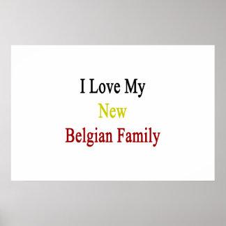Eu amo minha família belga nova
