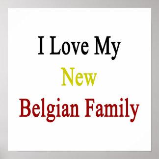 Eu amo minha família belga nova pôsteres