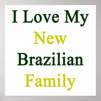 Eu amo minha família brasileira nova posteres