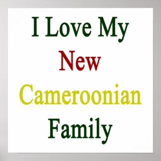 Eu amo minha família camaronesa nova impressão