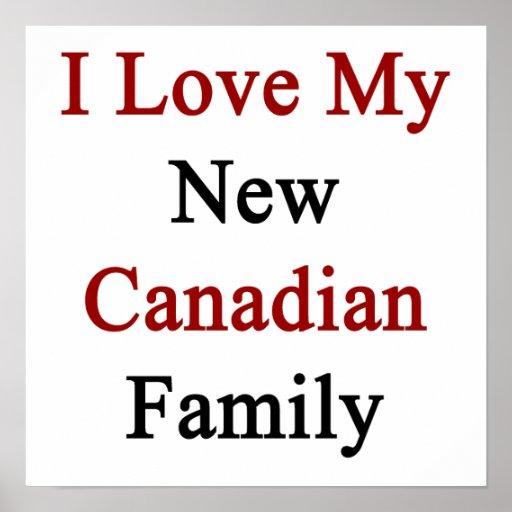 Eu amo minha família canadense nova