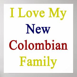 Eu amo minha família colombiana nova posteres