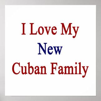 Eu amo minha família cubana nova impressão