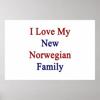 Eu amo minha família do norueguês novo pôster