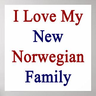 Eu amo minha família do norueguês novo impressão