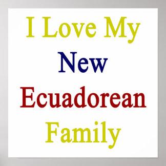 Eu amo minha família Ecuadorean nova Posters