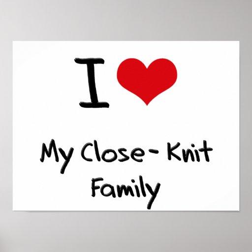 Eu amo minha família estreitamente ligada pôsteres