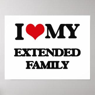 Eu amo minha família extensa poster