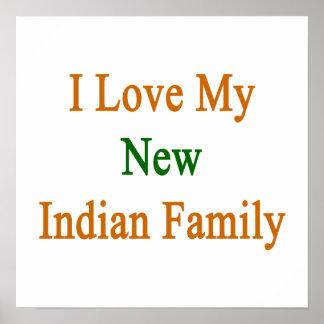 Eu amo minha família indiana nova