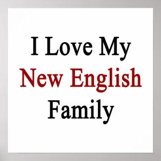 Eu amo minha família inglesa nova pôsteres