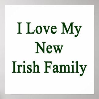 Eu amo minha família irlandesa nova posters