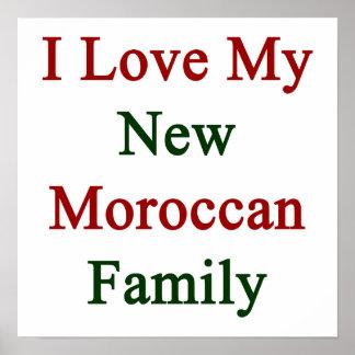 Eu amo minha família marroquina nova posteres