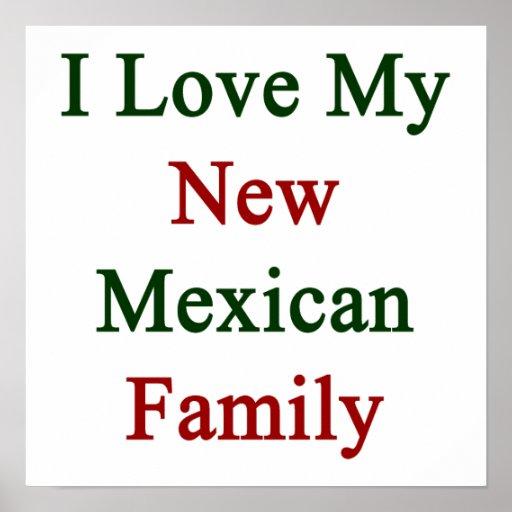 Eu amo minha família mexicana nova posteres