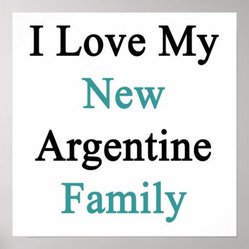 Eu amo minha família nova de Argentina Impressão
