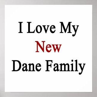 Eu amo minha família nova do dinamarquês impressão