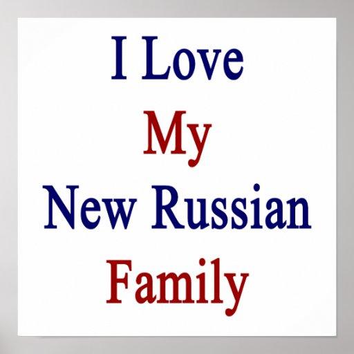 Eu amo minha família nova do russo posters