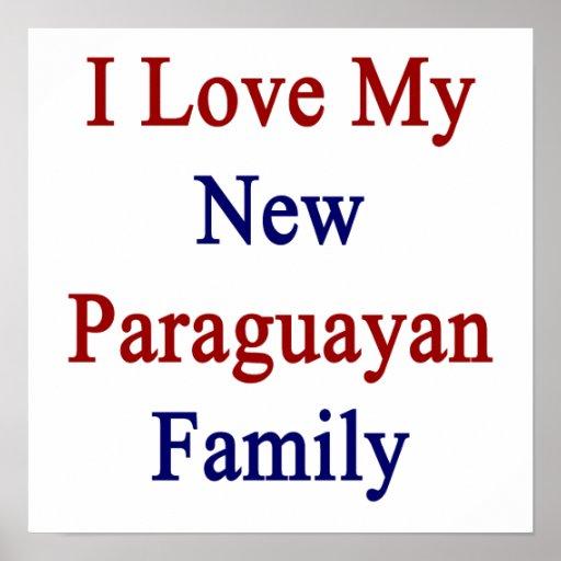 Eu amo minha família paraguaia nova posteres