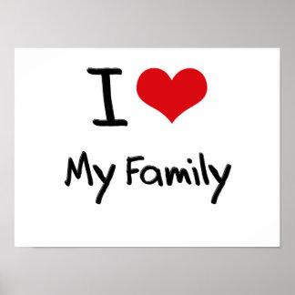 Eu amo minha família posters