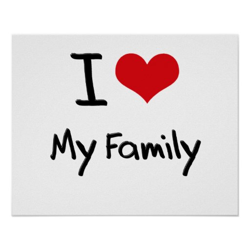 Eu amo minha família impressão