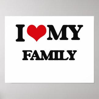 Eu amo minha família poster