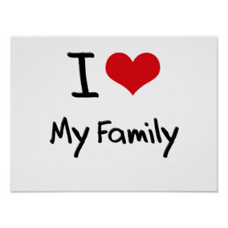 Eu amo minha família posteres