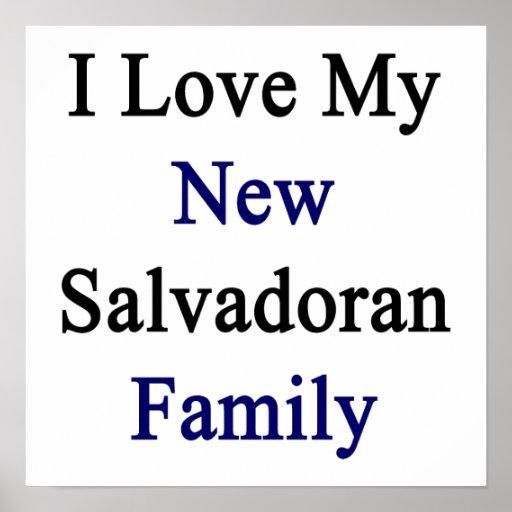 Eu amo minha família salvadorenha nova posteres