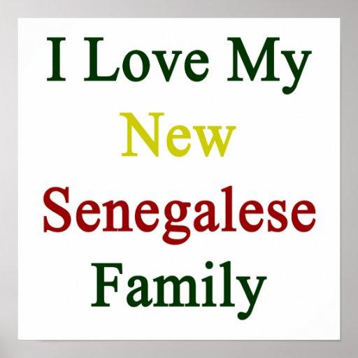 Eu amo minha família senegalesa nova posters