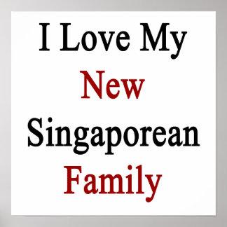 Eu amo minha família singapurense nova pôsteres