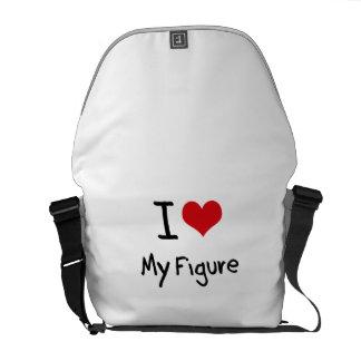 Eu amo minha figura bolsas mensageiro