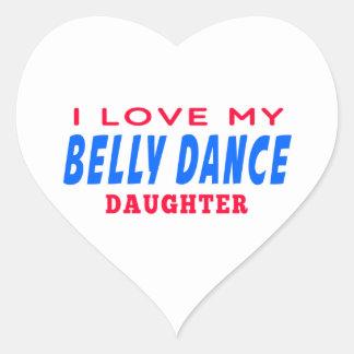 Eu amo minha filha da dança da dança do ventre adesivos