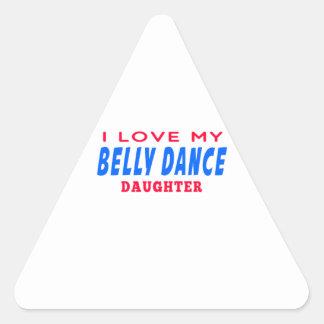 Eu amo minha filha da dança da dança do ventre adesivos triângulo