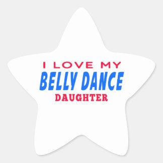 Eu amo minha filha da dança da dança do ventre adesivos estrelas