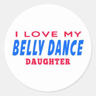 Eu amo minha filha da dança da dança do ventre adesivo