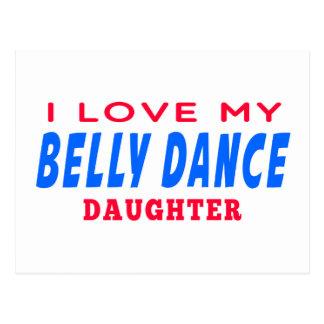 Eu amo minha filha da dança da dança do ventre cartão postal