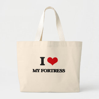 Eu amo minha fortaleza bolsa