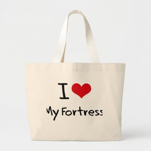 Eu amo minha fortaleza bolsa de lona