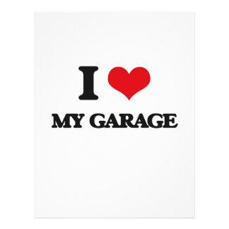 Eu amo minha garagem panfleto