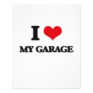 Eu amo minha garagem panfleto personalizado