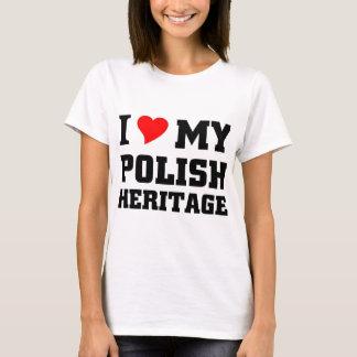 Eu amo minha herança polonesa camiseta