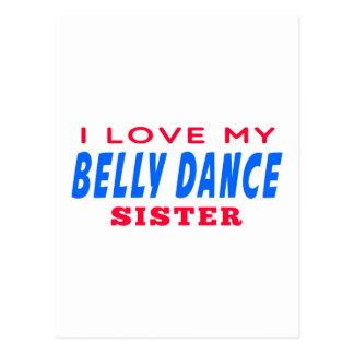 Eu amo minha irmã da dança do ventre cartão postal