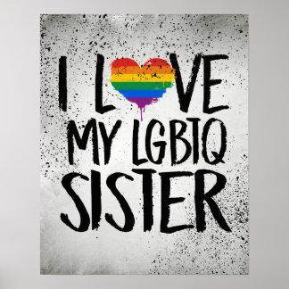 Eu amo minha irmã de LGBTQ Pôster