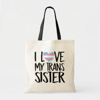 Eu amo minha irmã do transporte bolsa tote