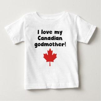 Eu amo minha madrinha canadense camiseta para bebê