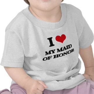 Eu amo minha madrinha de casamento t-shirts
