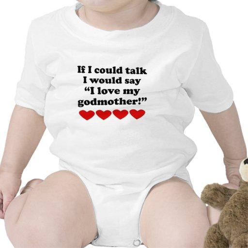 Eu amo minha madrinha macacãozinhos para bebê