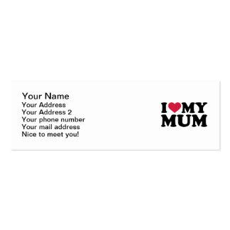 Eu amo minha mãe cartão de visita