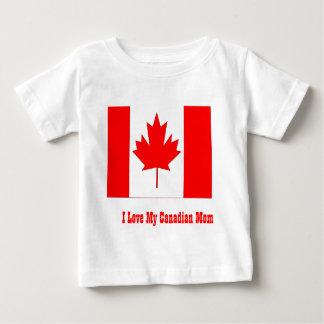 Eu amo minha mamã canadense tshirt