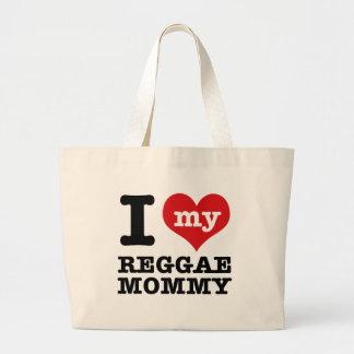 Eu amo minha mamã da dança da reggae bolsas de lona