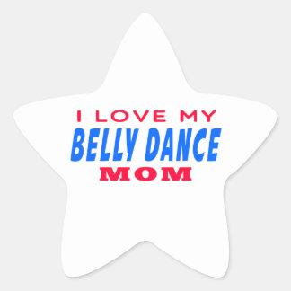 Eu amo minha mamã da dança do ventre adesivos em forma de estrelas