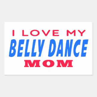 Eu amo minha mamã da dança do ventre adesivos retangulares
